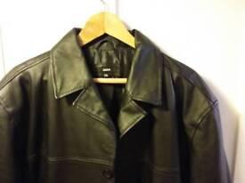 ZERO mens XXL three quarter length leather jacket
