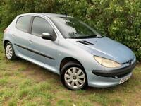 PEUGEOT 206 - 1 YEARS MOT - LOTS OF SERVICE RECEIPTS