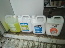 Five gallon bottles of cleaning products central London bargain
