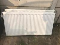 6 radiators for sale £100 with valves and lock shield