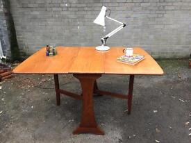 TEAK Wood DANISH DROP LEAF TABLE FREE DELIVERY VINTAGE RETRO MIDCENTURY