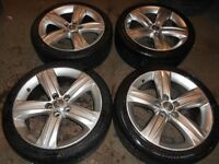 18″ GENUINE VAUXHALL ASTRA H ALLOY WHEELS - 5 x 110 FITMENT