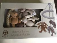Bashful bunny musical cot mobile, jellycat