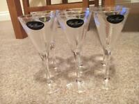 6x Crystal Sherry/port Glasses