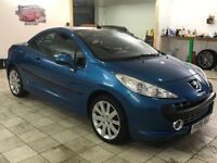 !!ONLY 52K MILES!! 2008 PEUGEOT 207 CC 1.6 GT CONVERTIBLE / MOT JUNE 2019 / FULL LEATHER / MUST SEE