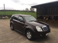 2008 Ssangyong Rexton 270 SX 7 Seater, Turbo Diesel, Black Leather