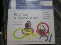 RING TOSS AND HORSE SHOE GAME SET BRAND NEW IN BOX