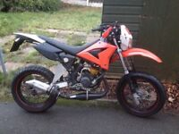 SWAP OR PART EXCHANGE 2009 70cc 2 stroke Cpi supermoto learner legal