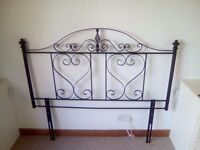 Three metal headboards - (2 double & 1 single) - excellent condition. Sold as three or individually.