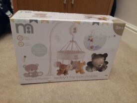 Teddy Toy Box musical cot mobile
