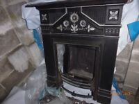 Kinder Nevada gas fire, open flame with coals and fireplace surround