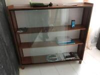 Large glass shelving unit