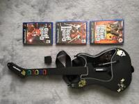 Guitar Hero PS2 Wireless controller + 3 games