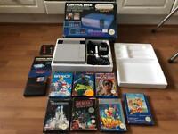 Nintendo nes boxed original console and games