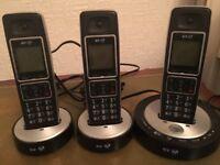BT trio phone set with answering machine