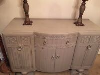Large vintage sideboard chic grey