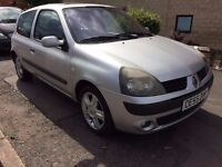 Renault clio 1.2 ltr.55 plate. Full mot. Very Good Drive