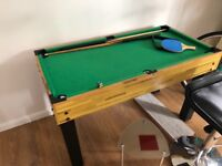 Pool table multiple game functions
