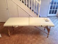 Portable folding massage table with 9 couch rolls
