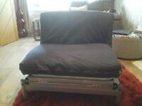 navy blue futon style bed
