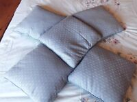 Five Light Blue Scatter Cushions