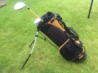 PL Golf bag - black and gold