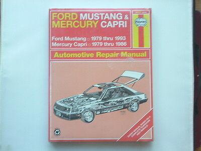 FORD MUSTANG 1979-93, MERCURY CAPRI 1979-86 Haynes  Manual New Old Stock