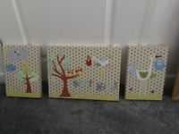 3 Pictures for a nursery