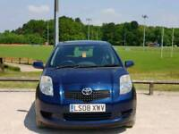 TOYOTA YARIS 1.0L 2008 5DOOR 1 OWNER MOT TILL8/4/2019 11 SERVICES HPI CLEAR EXCELLENT CONDITION
