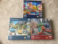3 x 1000 Piece Jigsaw Puzzles