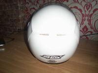 white xxl flip front full face crash helmet great condition