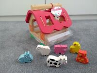 Marks and Spencers wooden animal sorter