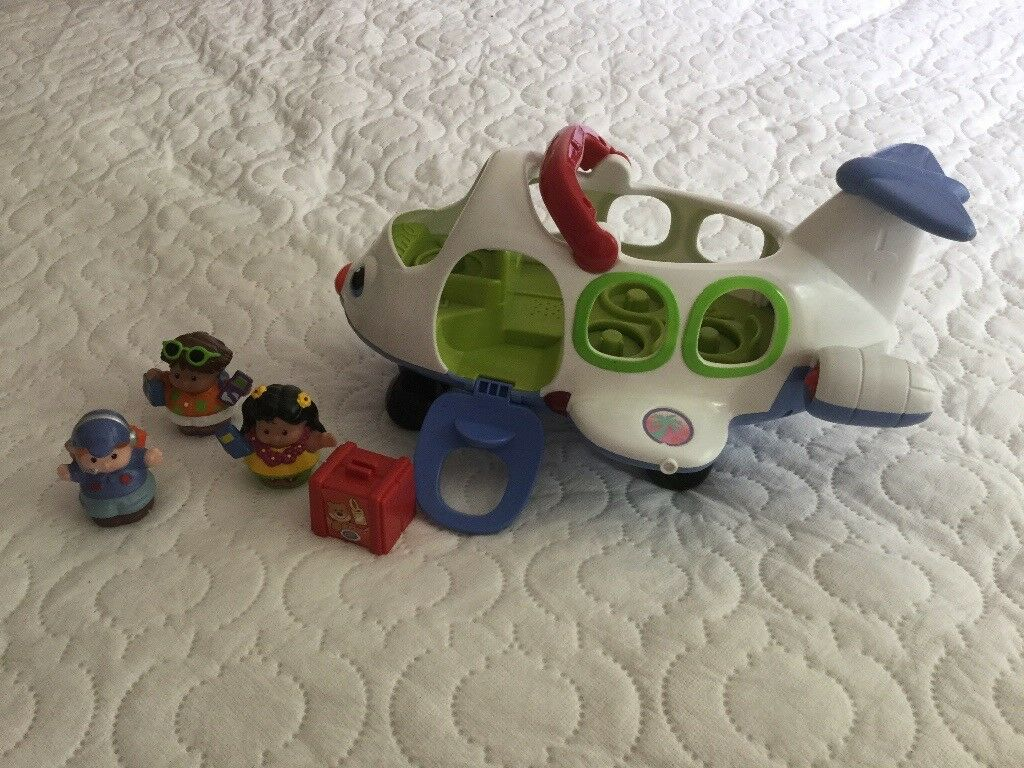 Toy airplane with figures