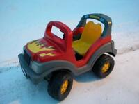 Kids size electric truck single rider