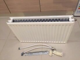 Brand New Double Sided Radiator with Thermostat Controller & Hoses