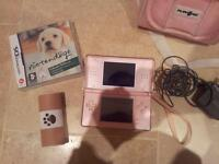Nintendo ds with game and bag