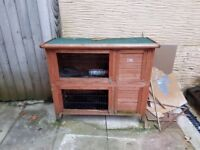 Rabbit Hutch, free, good condition 2levels and off the floor, roof lifts up for easy access.