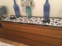 Ikea Malm Oak Veneer - Chest of 6 Drawers