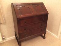 Solid Oak Writing Bureau For Sale - Excellent Condition, Tavistock, Devon