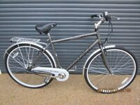 """MENS OPTIMA ROAD / TRECKING BIKE IN ALMOST NEW CONDITION (IDEAL PRESENT).. 20"""" / 51cm. LIGHT FRAME)."""