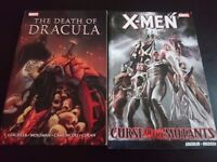 Marvel graphic novels The death of Dracula and X-Men curse of the mutants