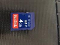 Sandisk 4GB SDHC Card - SD Memory Card