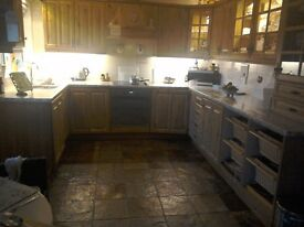 Kitchen cupboard door fronts & oven