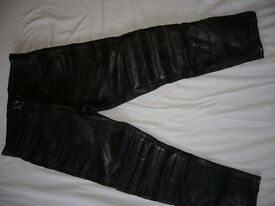 mens JTS leather motorcycle trouser