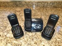 Panasonic digital cordless phones - set of 3 for sale