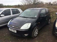 2004 FORD FIESTA BLACK LEATHER INTERIOR 3 DOOR TINTED WINDOWS ALLOYS CD LEATHER IN BLACK