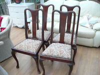 four old dinning chairs in need of renovation reduced bargain