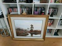 Large picture frame, damaged
