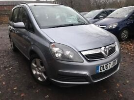 07 plate - vauxhall zafira 1.6 petrl - 6 months mot- part service history with stamps - clean car