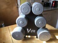 V-fit set of 3 dumbbells, £10